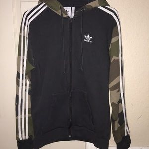 this is an adidas zip-up jacket